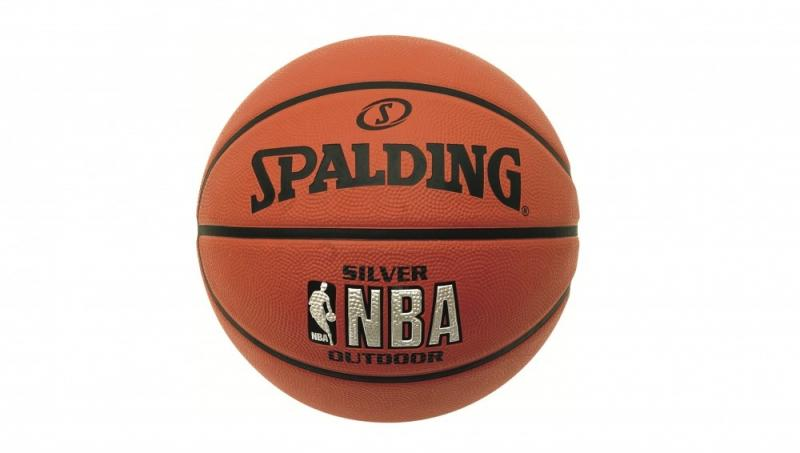Minge de baschet Spalding NBA Silver Youth Outdoor nr. 5