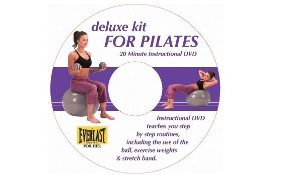 Set pilates Deluxe cu DVD Everlast