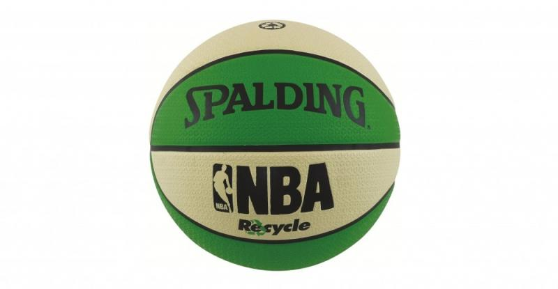 Minge de baschet Spalding NBA Recycle Green/White nr. 7