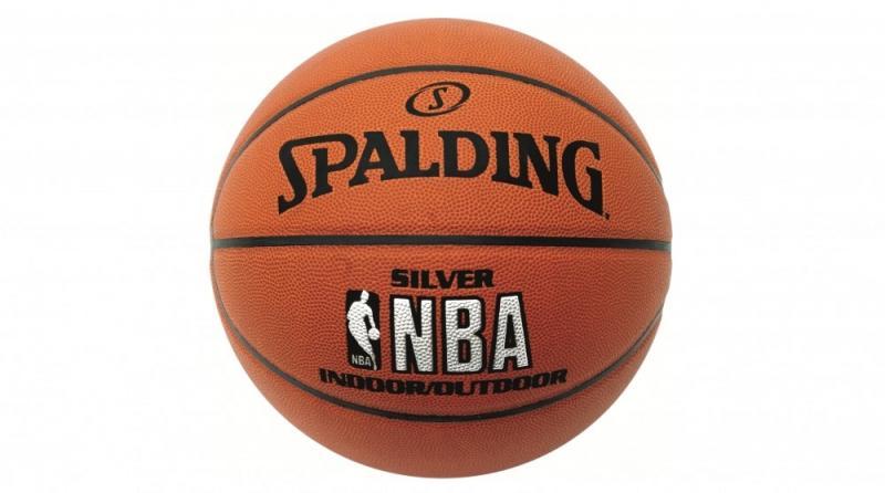 Minge de baschet Spalding NBA Silver Indoor/Outdoor nr. 7