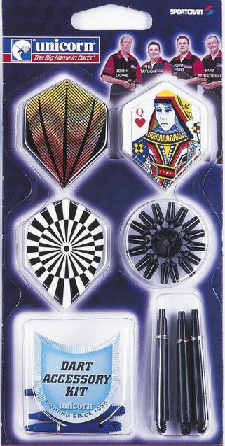 Set cu accesorii pentru darts  Unicorn