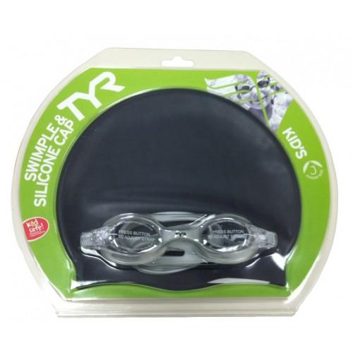 Set casca & ochelari TYR  Swimples Splash Pack