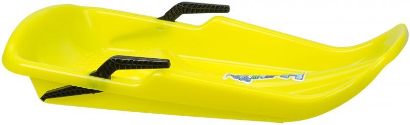 Sanie plastic Twister cu frane, galben