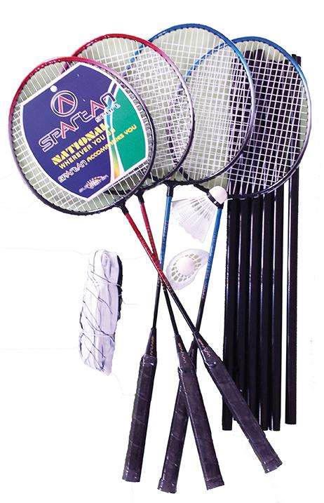Set badminton pentru 4 jucatori