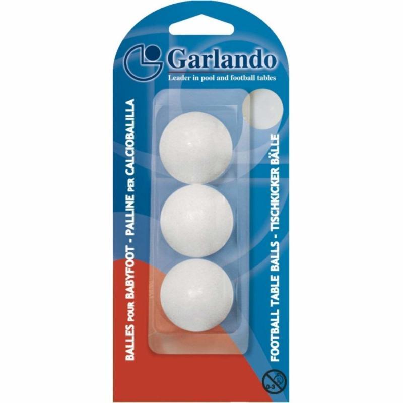 Set 3 mingi foosball Garlando Standard, Alb