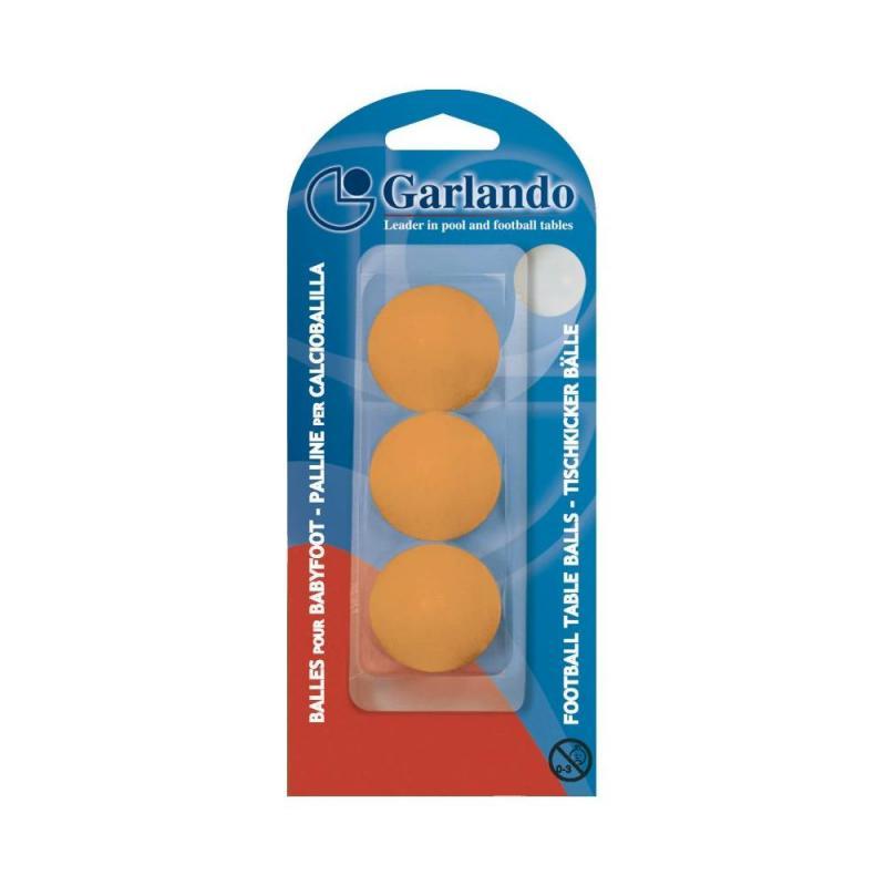 Set 3 mingi foosball Garlando Standard, Portocaliu