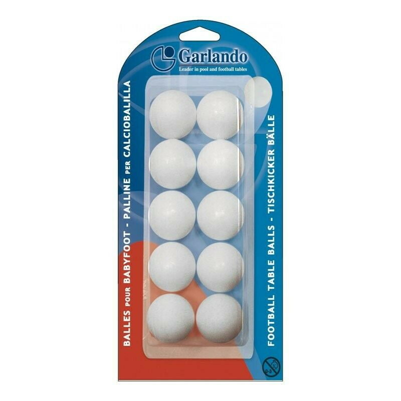 Set 10 mingi foosball Garlando Standard, Alb