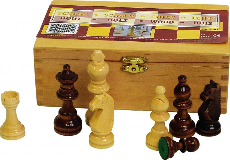Set Piese de șah Abbey® Game 87 mm