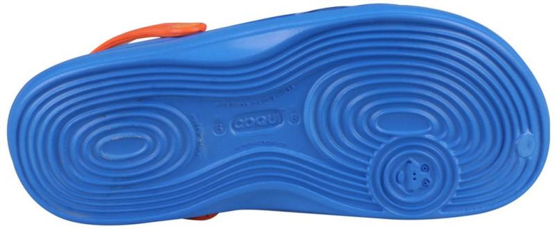 Papuci dama Coqui albastru/portocaliu