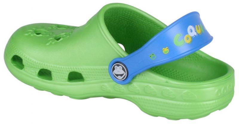 Papuci copii coqui little frog verde/albastru
