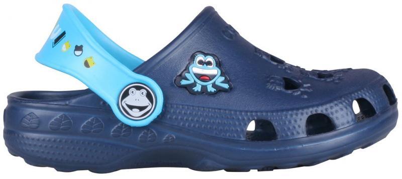 Papuci copii Coqui Little frog albastru/turcoaz