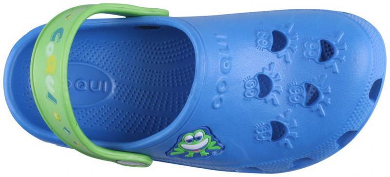 Papuci copii coqui little frog albastru/verde