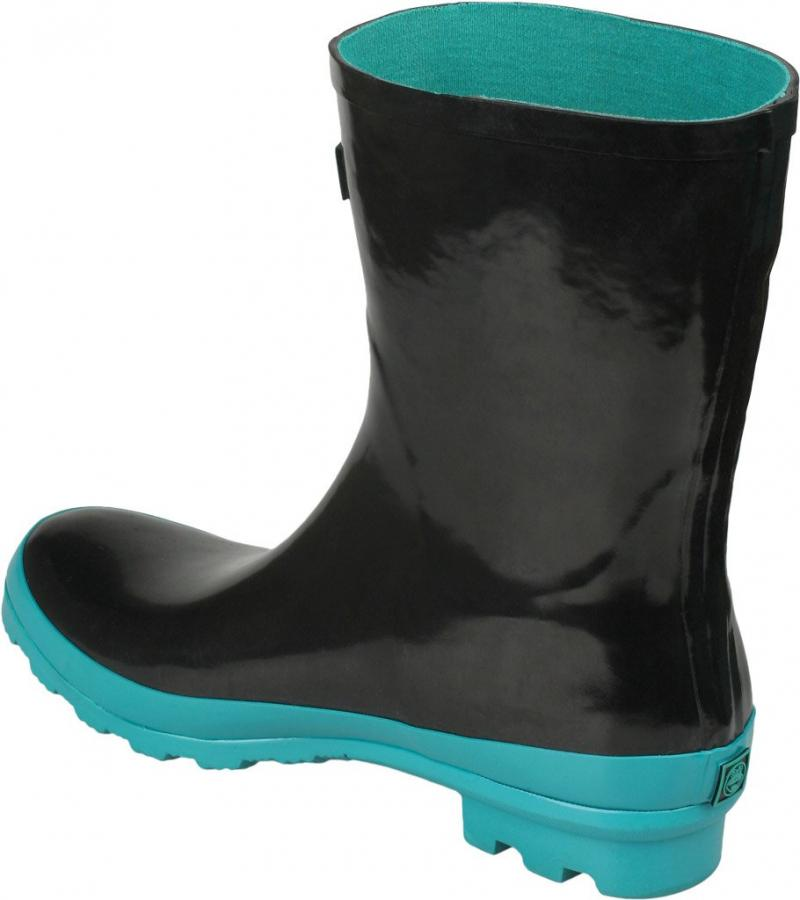Cizme dama ploaie Coqui negru/turqoaz