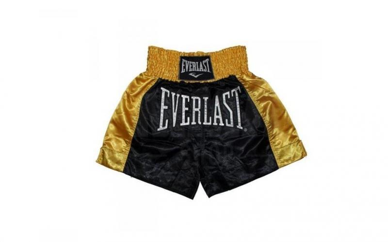 Sort Muay Thai Everlast EM6 Black-Gold
