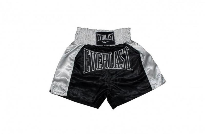 Sort Muay Thai Everlast EM6 Black-White