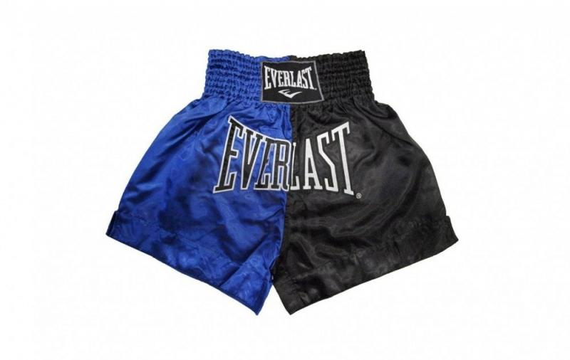 Sort Muay Thai Everlast EM7 Blue/Black