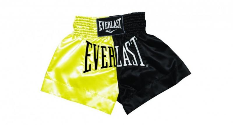 Sort Muay Thai Everlast EM7 Gold/Black