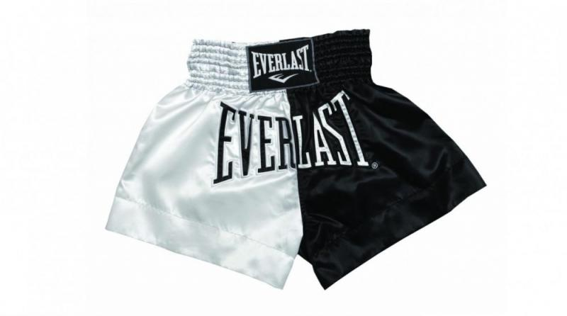 Sort Muay Thai Everlast EM7 White/Black