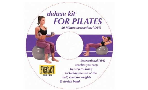 Set pilates Deluxe cu DVD Everlast