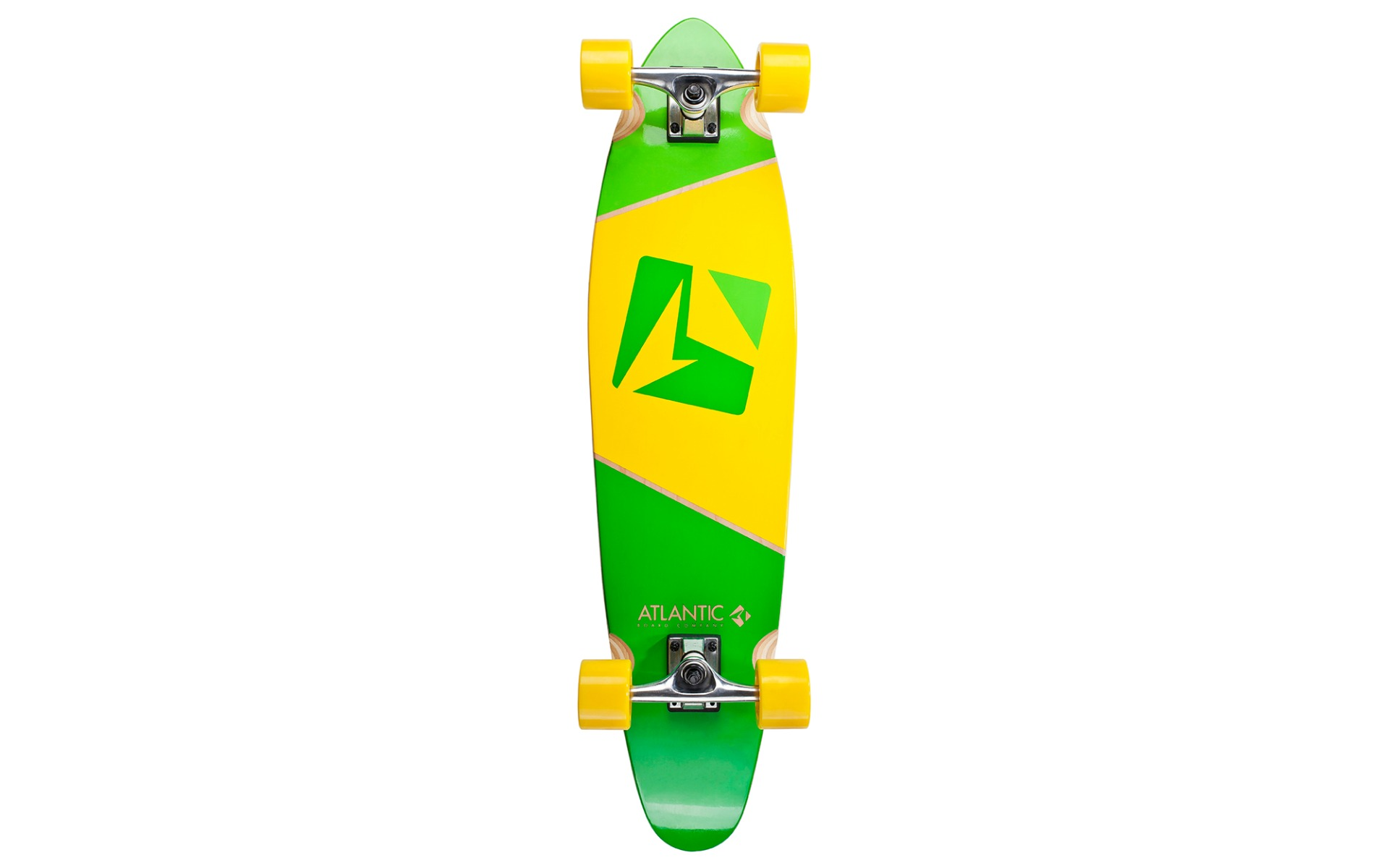 Skate Atlantic Kicktail Calypso Verde Cu Galben