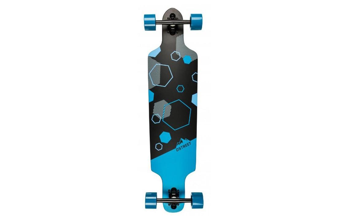 Skate D Street Polygon Hex Drop Through Albastru