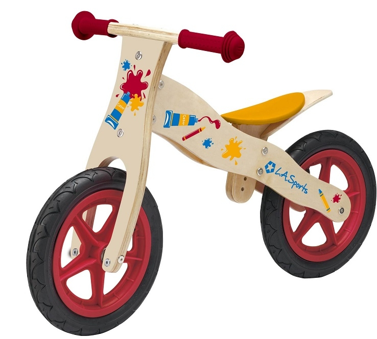 """Bicicleta La Sports De Lemn 12"""" Pentru Copii"""