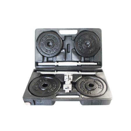 Set Gantere Toorx 20 Kg, 8 Discuri Fonta